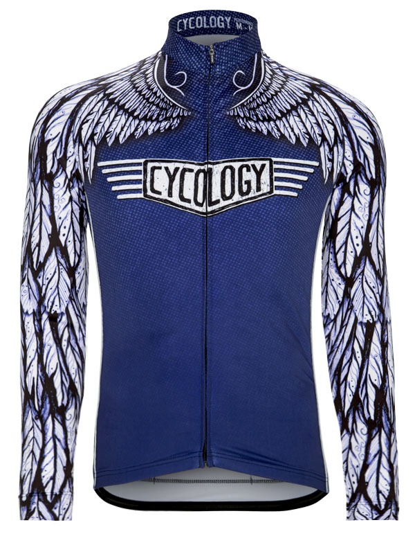 Free Flight Men s Blue Long Sleeve Cycling Jersey from Cycology 67d525378