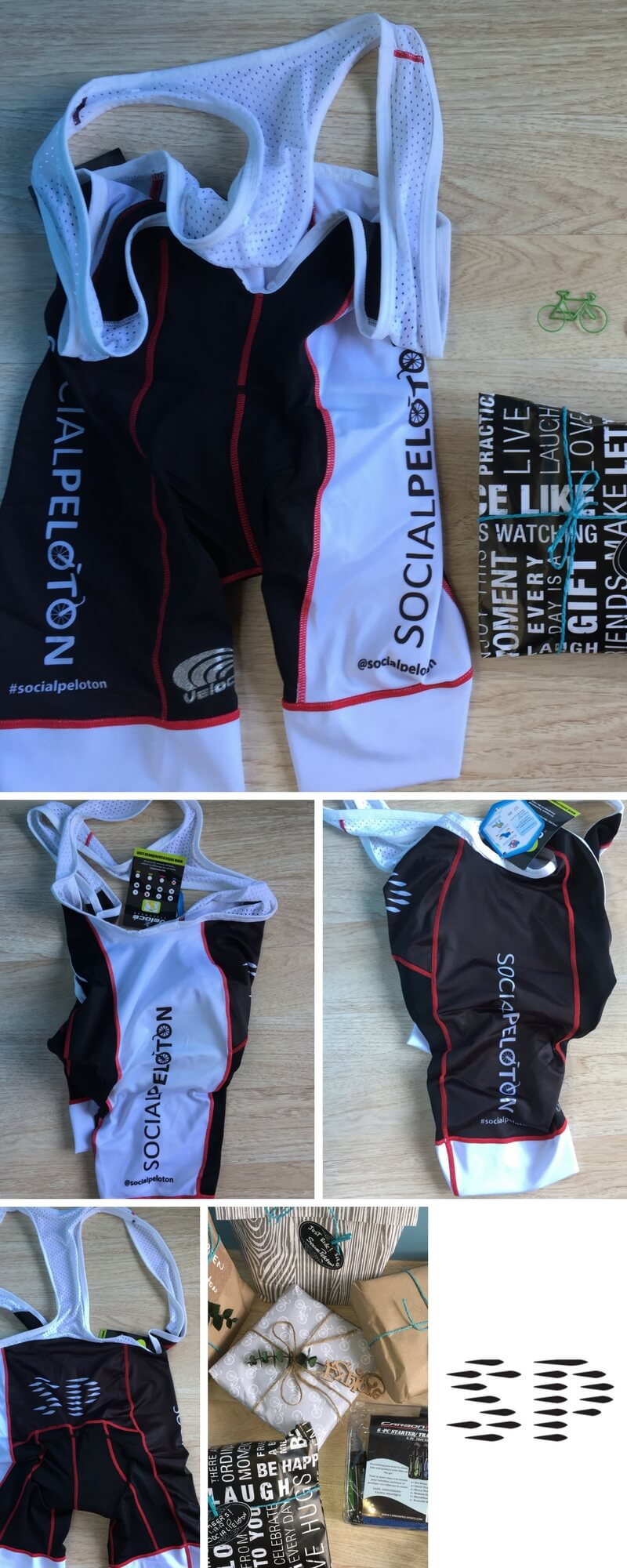 SocialPeloton Limited Edition Men's Elite Road Cycling Bib Size S