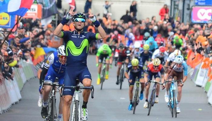 Alejandro Valverde gana la Lieja y se la dedica a Scarponi