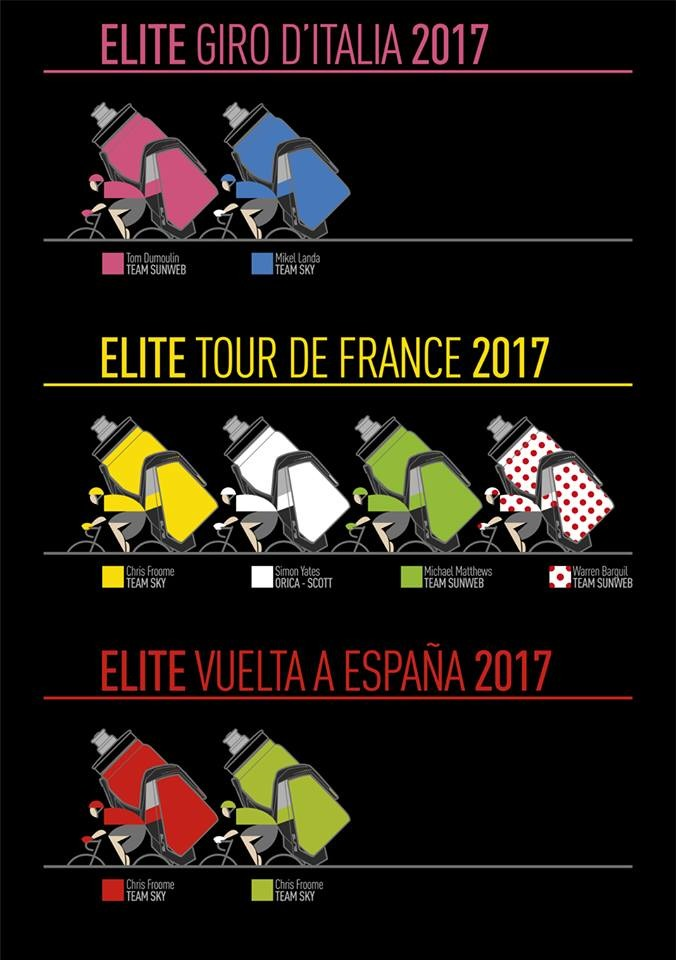 2017 grand tour jerseys with Elite Fly bottles
