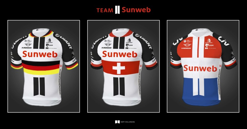 TEAM SUNWEB PRESENT NATIONAL CHAMPION JERSEYS