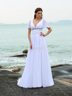 Beach Wedding Dresses NZ, Cheap Informal Bridal Gowns Online - Bonnyin.co.nz